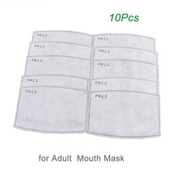 PM25 - activeted carbon mouth mask filter - anti dust - 10 pieces
