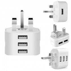 3 pin plug for all mobile phone - travel charging mains wall - AC multi power adapter