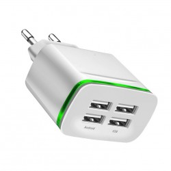 Universal USB charger - 2 or 4 port - LED light - multi port