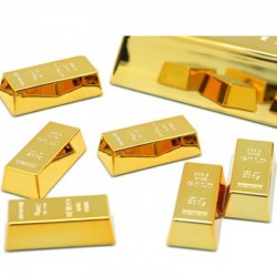 1pc creative gold brick shape refrigerator magnets - resin craft gift for home refrigerator decoration - souvenir birthday gift