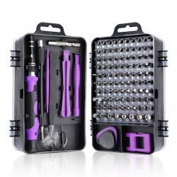 Screwdriver Set 115 to 112 - Purple/Grey/Black