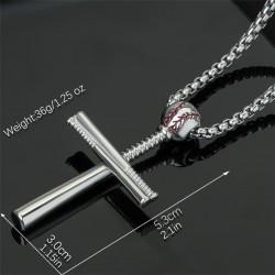 Baseball cross necklace - stainless steel - gold - silver - black - unisex