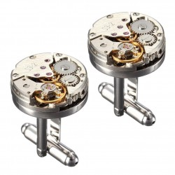 2Pcs - Cufflinks - Mechanical - Unisex