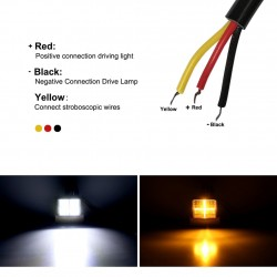 126W Car Light Assembly - 3000K - LED - Work Light Bar - Vehicles - Square - Round