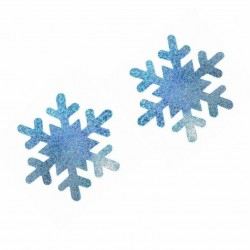 10 pairs - Nipple Covers - Snowflakes