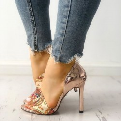 High Heels - Sandals - Woman - Summer - Sexy - Gold - Silver