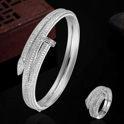 Gold-color bracelet - love bangles