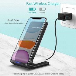 15W - 2 in 1 - Qi Wireless Charger - Samsung S10 - S20