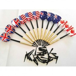 Soft tip darts set - plastic tips - 12pcs