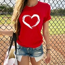 Heart printed t-shirt - short sleeve