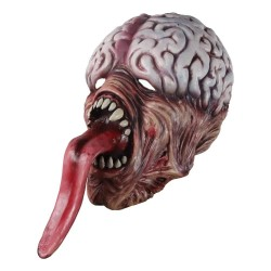 Biochemical zombie mask - with long tongue - latex - Halloween / masquerades