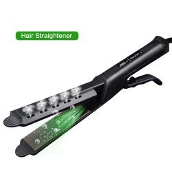 Hair straightener with temperature control - tourmaline ceramic - wet / dry hair