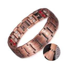 Vintage copper bracelet - magnetic - health - energy - unisex