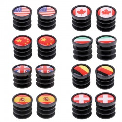 Bicycle handlebar ends - plugs - 22mm - national flags
