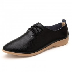 Soft moccasins - flat shoes with laces - genuine leather