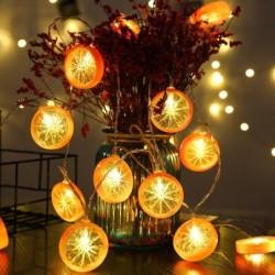 Fruits slices shaped string light - battery powered / USB - lemon / lime / orange