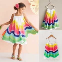 Rainbow sleeveless dress - with spaghetti straps