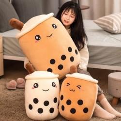Bubble tea cup shape toy - plush pillow