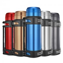 Vacuum thermos - with strap - stainless steel - large capacity - 1200L - 1600L - 2000L