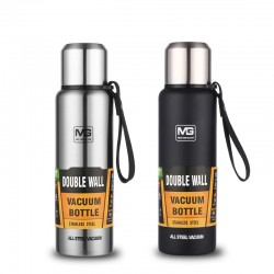 Vacuum thermos - with strap / bag - double wall - stainless steel - 500ml - 750ml - 1000ml - 1500ml