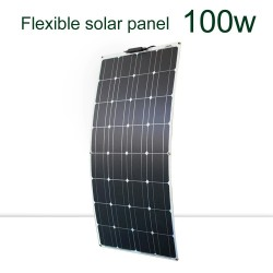 Solar panel kit - flexible - 100W / 200W / 300W - 12V / 24V - with PV connector - battery charger module