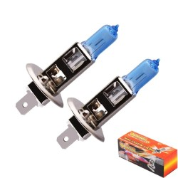 Car halogen bulbs - H1 - 6000K - 100W - 2 pieces