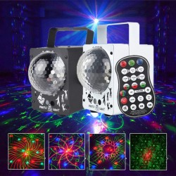 Portable disco ball - stage light - laser projector - RGB - LED - with 60 patterns
