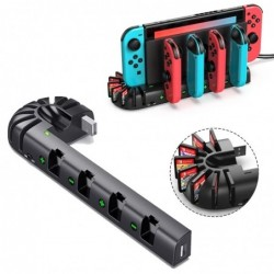 Nintendo Switch charging dock - 4-ports - with 8 game slots