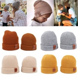 Knitted warm beanie - for girls / boys