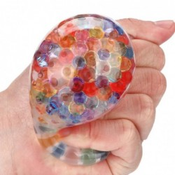 Spongy rainbow ball - squeezable toy - stress relief