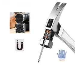 Multifunctional nail hammer - magnetic claw - square / round - 100Z/130Z