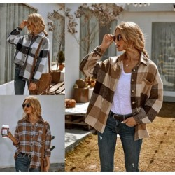 Vintage plaid shirt - with buttons - long sleeve