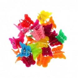 Mini colourful butterflies - hair clips