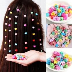 Mini hair clips - flowers / beads shaped
