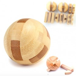 Wooden ball - lock puzzle - educational unlock toy
