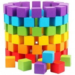 Colorful building cubes - wooden blocks - educational toy - 30 pieces