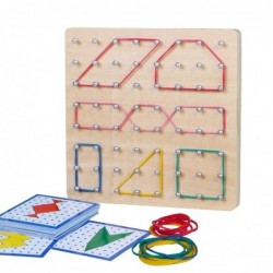Creative graphics - rubber ties / nails - wooden puzzle board - educational toy