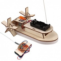 Wireless RC model - wooden scientific experiment - educational toy - DIY kit