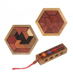 Geometric wooden puzzle - educational game
