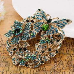 Elegant brooch with large crystal butterfly