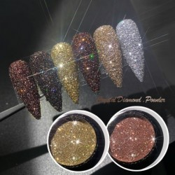 Shiny sugar nail art powder - glitter - luxurious sparkle dust