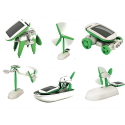 6 in 1 robot toys - educational kit - powered by solar