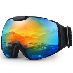 Professional ski goggles - OTG - anti-fog - double layer spherical lenses - snowboard sunglasses