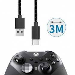 Fast charging cable - data transmission - USB type-C - for Xbox One Elite 2 / NS Switch Pro - 3M