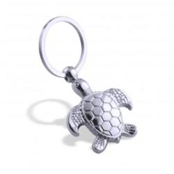 Fashionable metal keychain with turtle