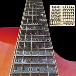 Guitar fretboard / fingerboard stickers - ultra thin - map frets