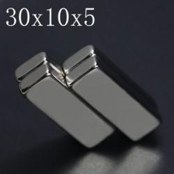 N35 - neodymium magnet - super strong block - 30mm * 10mm * 5mm