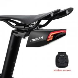 Bike brake light - turning light - flash tail rear lamp - laser line - with remote control - wireless - waterproof
