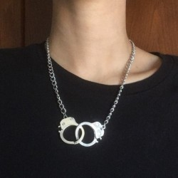 Trendy short necklace - love handcuffs - unisex