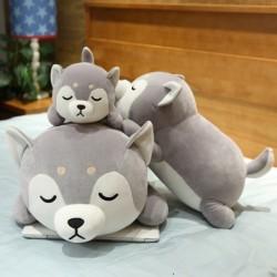 Lying Husky dog - plush toy - pillow